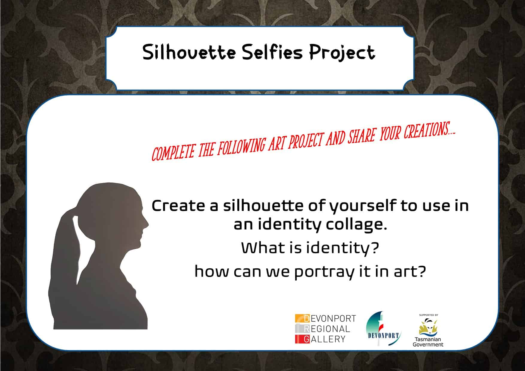 Silhouette Selfies Project Title page