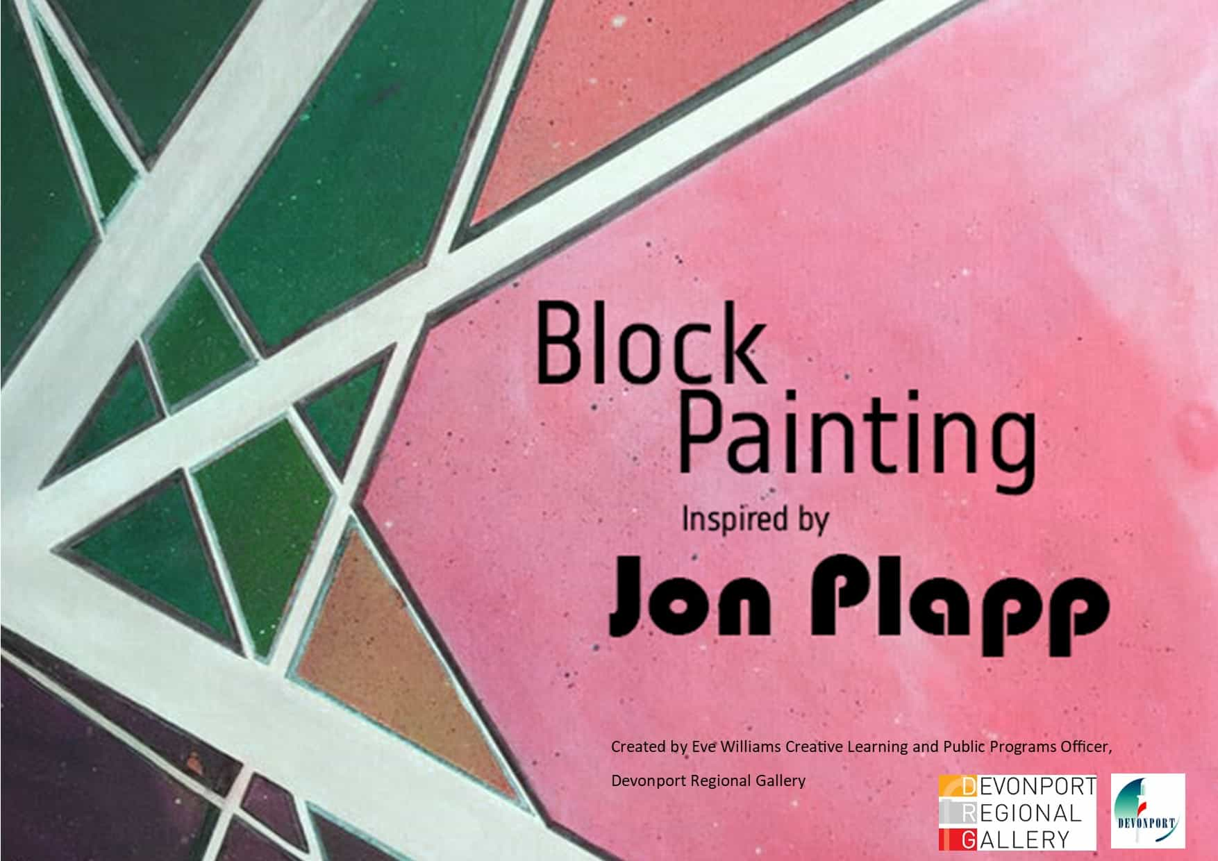 Colour block painting with jon plapp title page