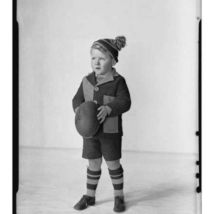 Image: Robinson Collection, Photograph of Len Campbell, Mascot of the Latrobe Football Club, 1937